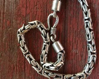 Sterling Byzantine Bracelet -- 285