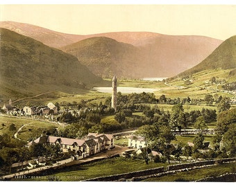 Glendalough. County Wicklow, Ireland] 1890. Vintage photo postcard reprint 8x10-up. Ireland County Wicklow