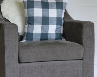 Decorative Pillow, Buffalo Checked Pillow Cover, Large Gingham Pillow Cover