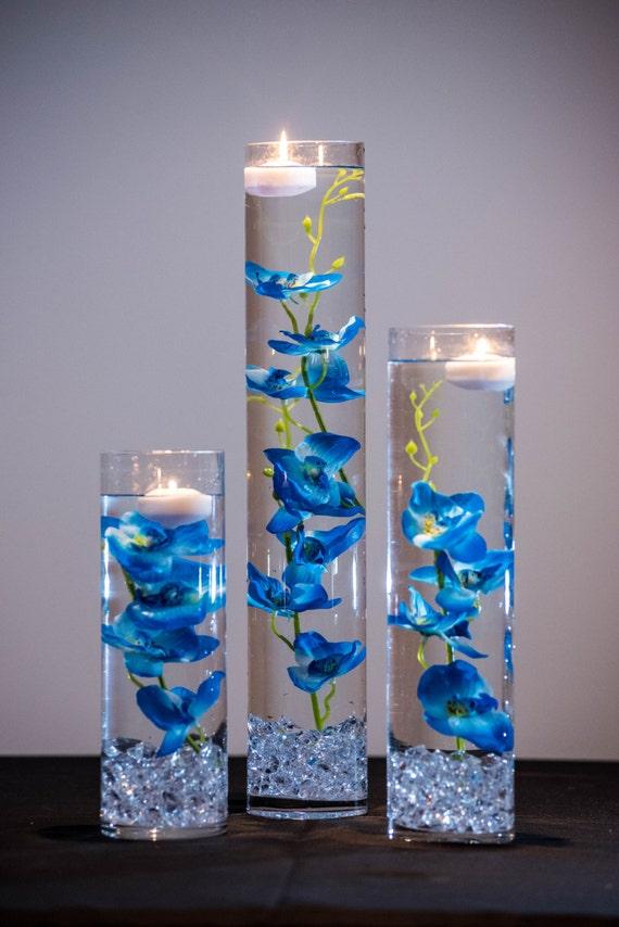 Blue orchid centerpieces pixshark images