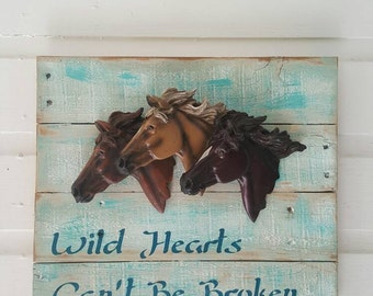 One of Kind Rustic Decor Pallet Wood Sign Horse Racer Reclaimed Recycled Repurposed Upcycled Gift for Cowgirl Cowboy Rodeo GREAT GIFT Idea!