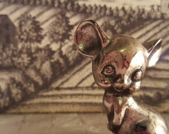 Vintage Peltro MOUSE pewter,made in Italy, minature