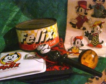 FELIX The Cat Toys, Cartoon Cat, Vintage Felix Cat Collectibles,1983, Felix Collectibles, King Features,Felix Cat Toys