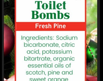 Toilet Bombs, Toilet Fizzies, All Natural Cleaners, Organic Cleaners, Christmas Cleaning Supplies