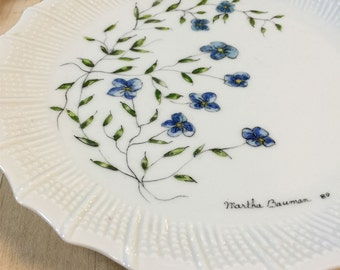 Chastagner Limoges France Hand Painted Plate