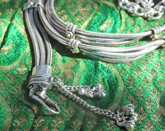Belt Snake Chain 3 strands, Gypsy Belt, Tribal Belly Dance Belt, Rabari Belt, Tribal Fusion belt, ATS, Belly Danse, Fire Danse, Boho belt