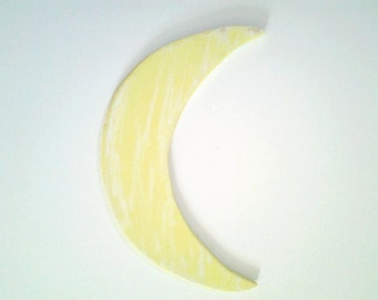 hand painted  crescent moon, rustic, perfect for nursery