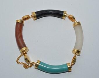 Chinese Longevity Multi-Color, Multi-Stone Bracelet (1025007) FREE US SHIPPING