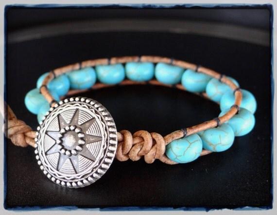 Simplistic Turquoise Beaded Bracelet