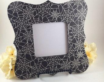 Spiderweb picture frame //Spider Web Photo Frame//Halloween Decoration//Halloween picture frame//Halloween Gift Ideas// haloween decor