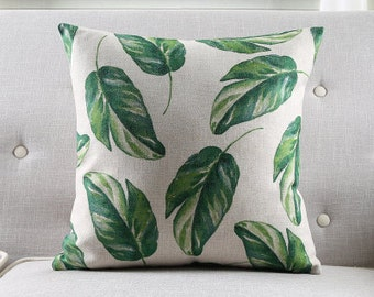Decorative Pillow tropical leaves printed cushion cover/pillow case/pillow cover/decorative throw pillows cushion shell