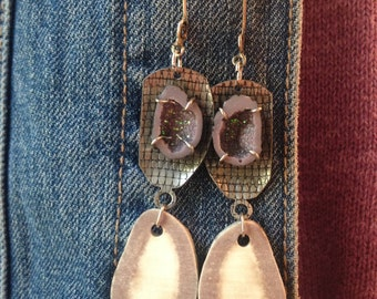 Reduced! One of a Kind Deer Antler Earrings