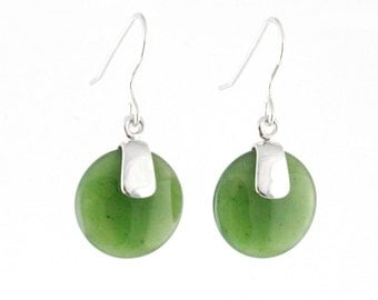 Canadian Nephrite Jade Earrings, 0056 - 10% off