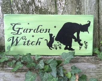 Garden Witch Sign