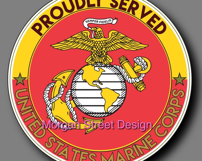 US Marine Veteran Die Cut Vinyl Decal Sticker