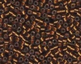 MIYUKI #11 Delica 1682 - Silver Lined Glazed Dark Honey - 5 grams