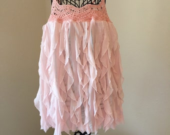 Soft Peach Empire Waist Party Dress size 3T