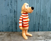 Vintage Beauregard Hound action figure by Walt Kelly for Pogo comic strip, 1969, vinyl figurine