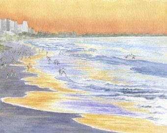 Gilded Twilight - Fine Art Giclee print of original painting