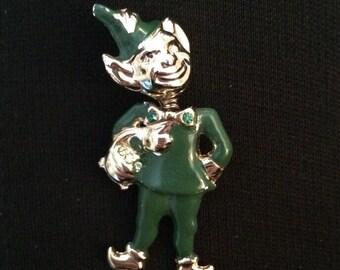 Leprechaun Trembler Brooch / Pin