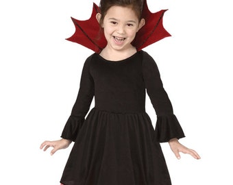 GIRL's VAMPIRE Princess Halloween Costume Size 8-10 + Free Treat Bag Birthday Bat