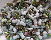 Alabaster Vitrail 2-Hole CoCo Horizontal Beads (50)