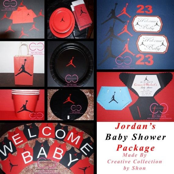 jumpman jordan inspired baby shower package by ccbyshon on etsy