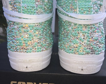 Embellished High Top Converse/Crystal Converse/ Swarovski Converse