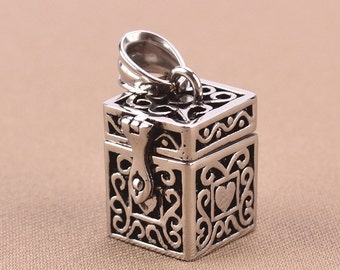 Urn Pendant Cremation pendant Memorial Pet Urn Pendant Stainless Steel Tibetan Box Pet Ashes Urn Jewelry Ash Funnel funeral Love Necklace