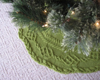 Hand Knit Cable Tree Skirt By 1stitchmore On Etsy