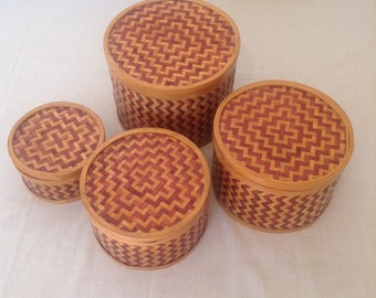 Set of 4 Vintage Nesting Boxes.