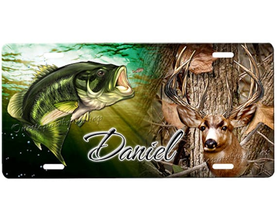 Hunting license plate for Fishing license il