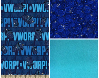 Dr. Who Tardis Custom Tula drool pads! Curved drool pads, fully lined and reversible!
