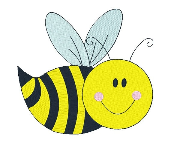 Bee machine embroidery design honey by