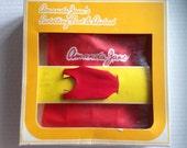 Vintage Amanda Jane BOXED Paddling Pool Airbed swimming red swim costume 1980s box RARE toy MIB mint MoC