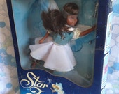 NRFB Vintage Tonka STAR FAIRIES 1985 Nightsong 1980s faerie dolls black hair fantasy fairy doll boxed dress wings wand Hornby Flower Fairies