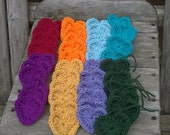 Ready to Ship - Knitted Hearts - Various Colors - 3 inch Hearts - Embellishments - Decorations