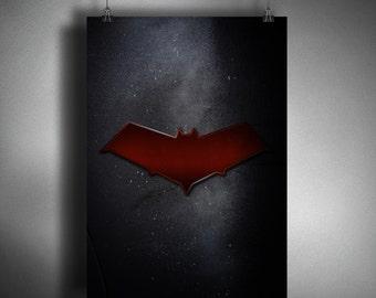 Red Hood Symbol - Superhero Symbol Poster