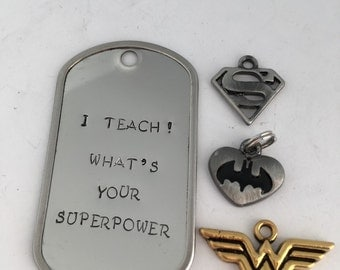 Teacher Superpower Keychain