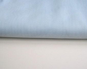 """blue Fabric 135cm (54"""") wide voile polyester"""