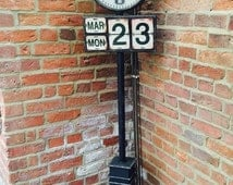 HOT SUMMER SALE Vintage Station Clock Handmade Tall 1930s Style