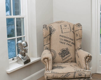Postmaster Wingback Armchair