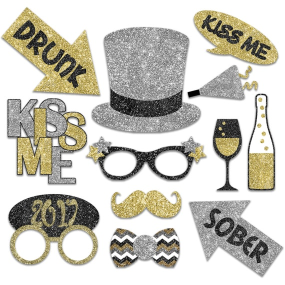 2017 New Years Eve Photo Booth Props