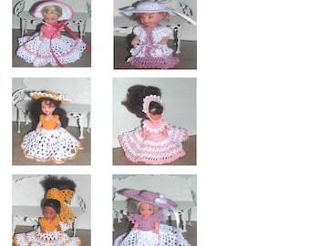 Crochet Fashion Doll Kelly  Pattern- #707 KELLY GIRLS