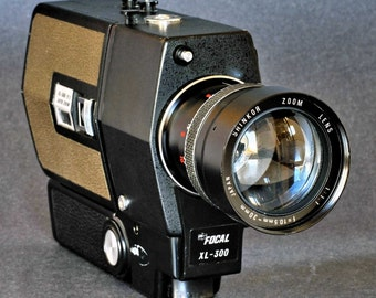Focal XL-300 Super-8 Movie Camera with a 9.5-30mm f/1.1 Fast Zoom Len