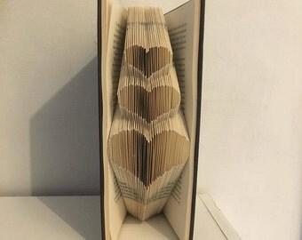 PATTERN #178 3 hearts book folding pattern. 125 folds