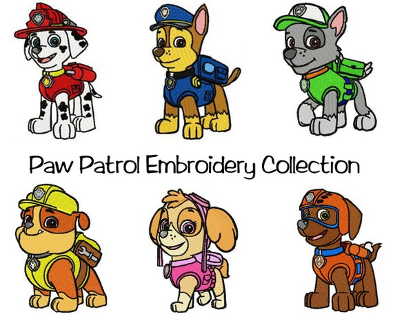 6 PES Paw Patrol Embroidery Designs 4 By TessasTrendyTreasure