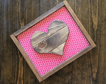 Framed Heart Sign