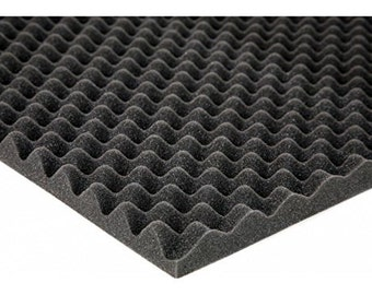 """2.5"""" Acoustic Foam Egg Crate - 2-1/2"""" x 72"""" x 80"""" covers 40sq Ft - SoundProofing/Blocking/Absorbing Acoustical Eggcrate Foam - Made in USA!"""