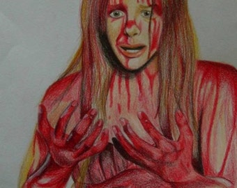 Stephen King Carrie horror drawing